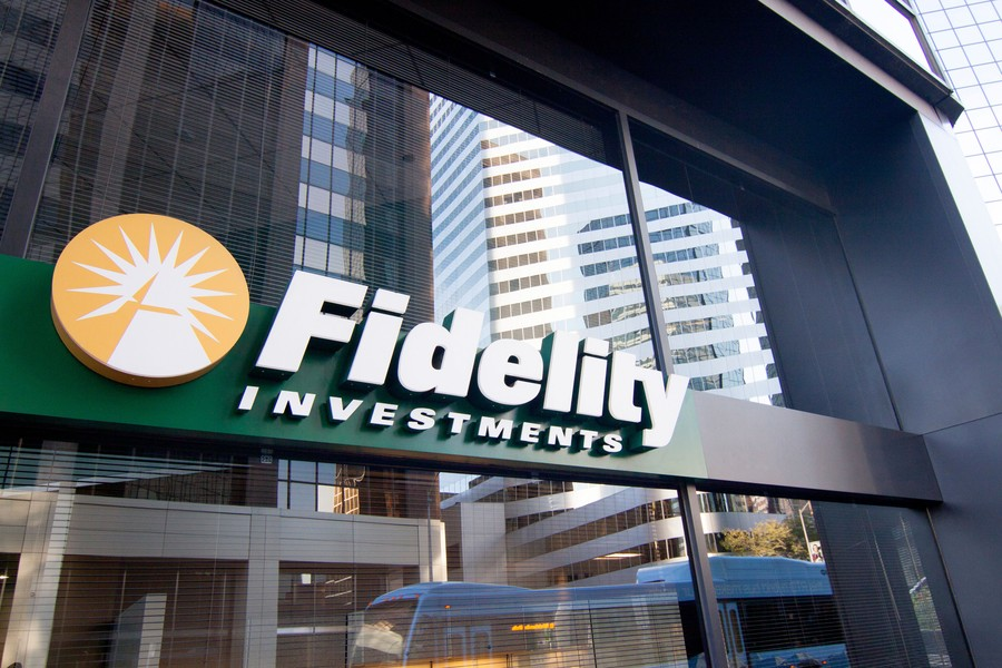 C85X4A The Fidelity Investments office at 1625 Broadway, Suite 110, Denver Colorado, USA.